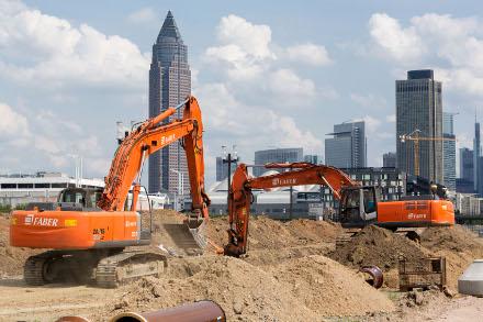 Erschließung des Europaviertels in Frankfurt auf einer Fläche von 680.000 Quadratmetern