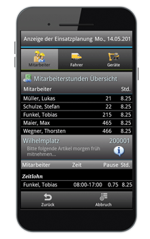 bau-mobil App von Connect2Mobile - Screenshot