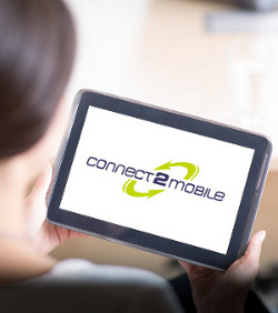 Connect2Mobile Logo auf Tablet