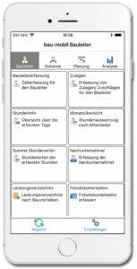 bau-mobil-app-fuer-iphone_Hauptmenue_Bauleiter
