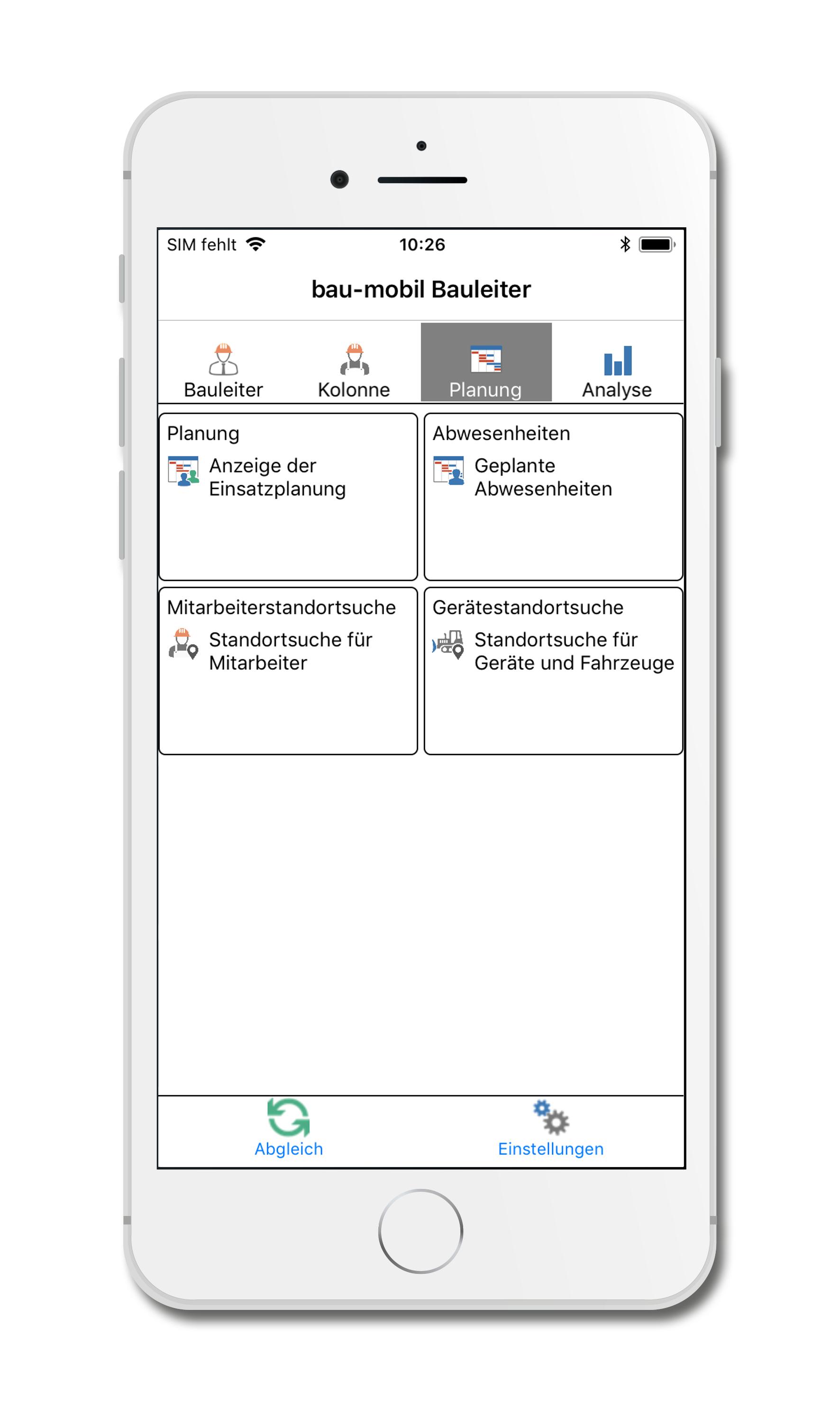bau-mobil-app-fuer-iphone_Hauptmenue_Planung