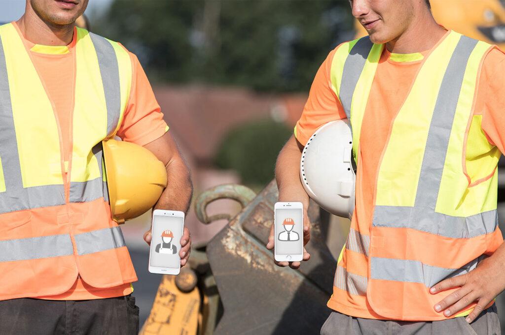 Mobile Arbeitszeiterfassung Bauleiter und Poliere